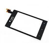 Sony ST23i Xperia Miro сенсор (тачскрин) черный