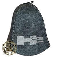 """HUMMER"" / ""Хаммер"", шапка для бани (Э), серая"