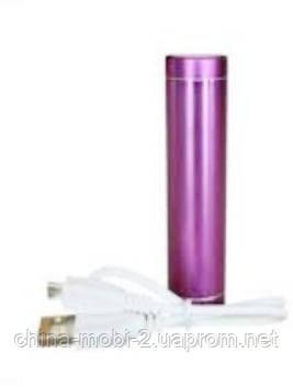 Универсальная  батарея  ( mobile power bank) 2600 mAh, GLK-102, pink, фото 2