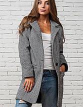 Легкое женское серое пальто (Мечта leo), фото 3