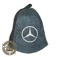 """""""Mercedes"""" / """"Мерседес"""", шапка для бани (Э), серая"""