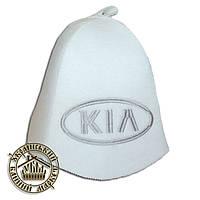 """""""KIA"""" / """"Киа"""", шапка для бани (Э), белая"""