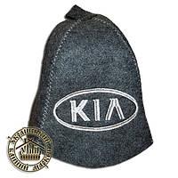 """KIA"" / ""Киа"", шапка для бани (Э), серая"
