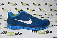 Мужские беговые кроссовки NIKE Free Run  3.0, голубые, Р.  42