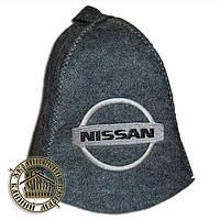 """""""NISSAN"""" / """"Ниссан"""", шапка для бани (Э), серая"""