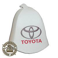 """TOYOTA"" / ""Тойота"", шапка для бани (Э), белая"