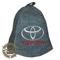 """""""TOYOTA"""" / """"Тойота"""", шапка для бани (Э), серая"""