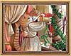 """Схема для вышивки бисером с кошками """"Ромео и Джульетта"""""""