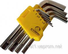 Набор Г-образных ключей Сталь HEX 9 ед. от 1,5-10 мм (арт. 48101)