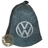"""""""Volkswagen"""" / """"Фольксваген"""", шапка для бани (Э), серая"""
