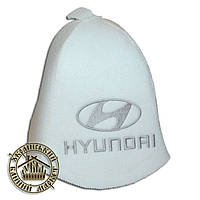 """""""Hyundai"""", шапка для бани (Э), белая"""