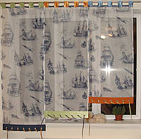 Японские занавески Кораблики на петлях, фото 1