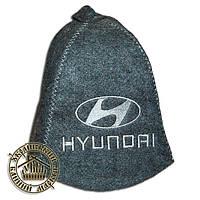 """""""Hyundai"""", шапка для бани (Э), серая"""