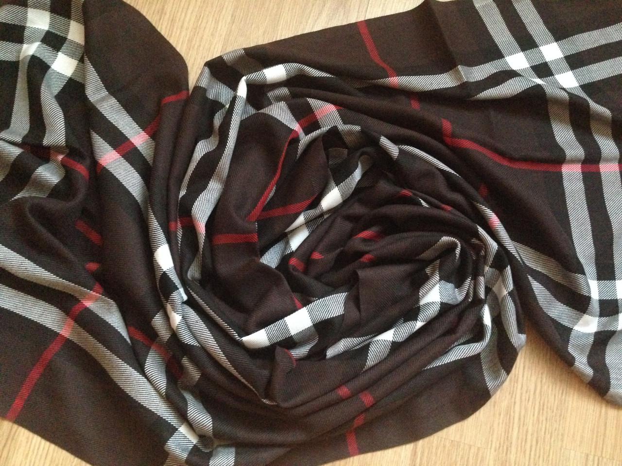 Хлопковый шарф черный 186х50 см