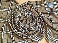 Хлопковый шарф коричнево-серый 186х50 см
