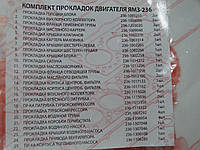 Р/к двигателя ЯМЗ 236 (полный комплект) (25 наим.) (пр-во Украина)