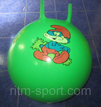 Мяч детский с рожками (d 55 см), фото 2