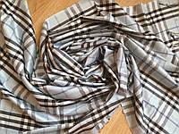 Хлопковый шарф голубой 177х70 см