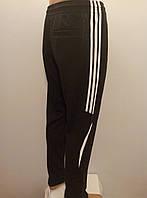 Мужские спортивные трикотажные штаны с вставкой птичка двунитка.
