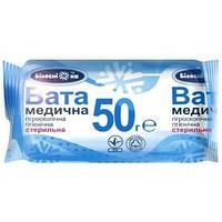 Вата медицинская стерильная ТМ «Белоснежка», ролик: 50 грамм