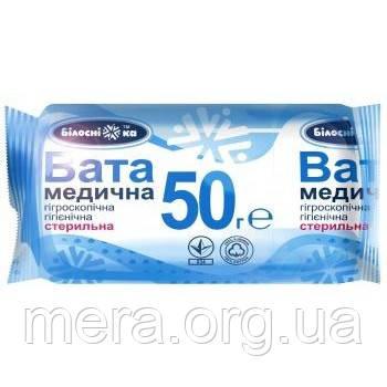 Вата медицинская стерильная ТМ «Белоснежка», ролик: 50 грамм, фото 2