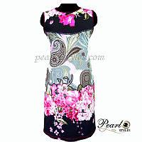 Платье купонное с цветами