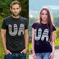 "Пара футболок ""UA"" (чорні)"
