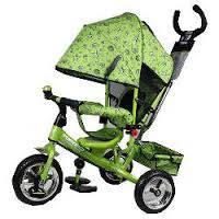 Велосипед трехколесный детский m 5363-2-1 усиленная двойная ручка зеленый eva foam