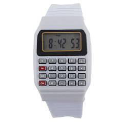 Наручний годинник з калькулятором Zentrum white