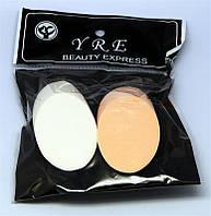 Спонж Колбаска 2 шт в упаковке SP-07, спонжики YRE, скошенные спонжики купить