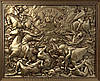 """Картина резная из дерева """"Битва"""""""