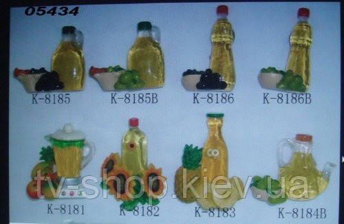 Магнит Бутылка масла с ананасами