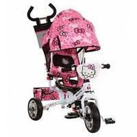 """Велосипед трехколесный детский """"hello kitty"""" hk 0118-01 eva foam. усиленная двойная ручка."""