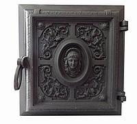 Чугунная печная дверца -VVK   33  x 36 cм/26х29см