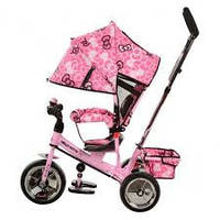 """Велосипед трехколесный детский """"hello kitty"""" hk 0118-02 eva foam. усиленная двойная ручка."""