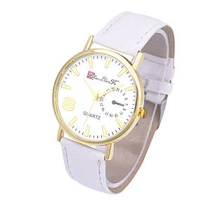 Часы наручные кварцевые LianGo Acht white, фото 2
