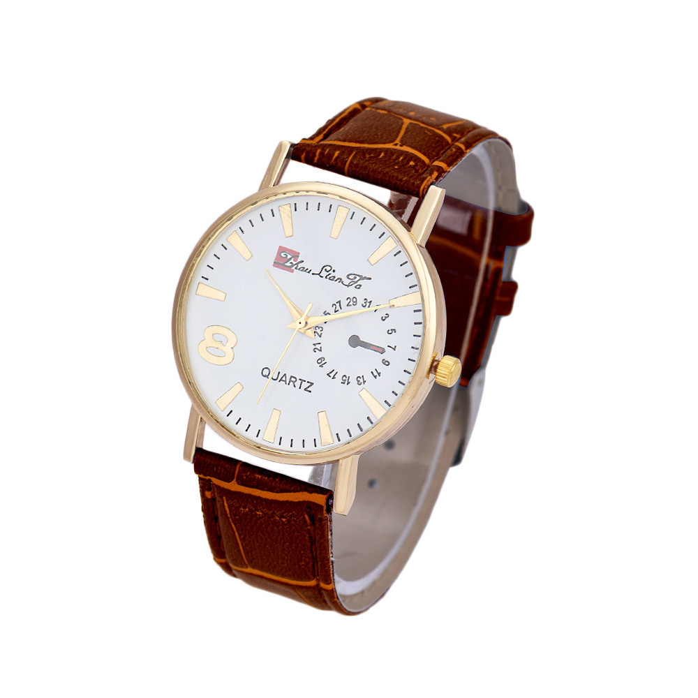 Часы наручные кварцевые LianGo Acht braun