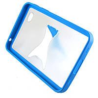 Чехол-накладка для Samsung Galaxy Tab P1000, с подставкой, голубой /case/кейс /самсунг галакси