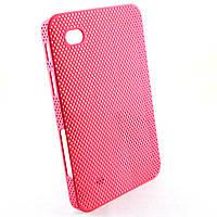 Чехол-накладка для Samsung Galaxy Tab P1000, перфорация, Розовая /case/кейс /самсунг галакси