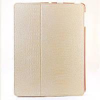 Чехол-книжка для iPad 2/3/4, BOROFONE, крокодиловая кожа, Бежевая  /flip case/флип кейс /айпад