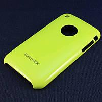 Чехол-накладка для Apple iPhone 3G, 3Gs, пластиковый, Buble Pack, Лайм /case/кейс /айфон