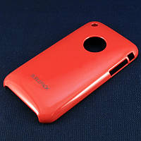 Чехол-накладка для Apple iPhone 3G, 3Gs, пластиковый, Buble Pack, Малиновый /case/кейс /айфон