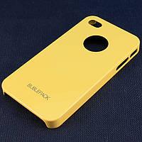 Чехол-накладка для iPhone 4/4S, пластиковый, Buble Pack, Желтый /case/кейс /айфон, фото 1