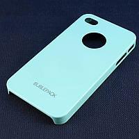 Чехол-накладка для iPhone 4/4S, пластиковый, Buble Pack, Бирюзовый /case/кейс /айфон