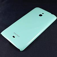 Чехол-накладка для Nokia Lumia 1320, пластиковый, Buble Pack, Бирюзовый /case/кейс /нокиа