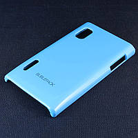 Чехол-накладка для LG L5, E610, E612, E615, пластиковый, Buble Pack, Голубой /case/кейс /лж, фото 1