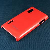 Чехол-накладка для LG L5, E610, E612, E615, пластиковый, Buble Pack, Малиновый /case/кейс /лж, фото 1