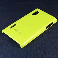 Чехол-накладка для LG L5, E610, E612, E615, пластиковый, Buble Pack, Лайм /case/кейс /лж, фото 1