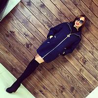 Женское свободное демисезонное кашемировое пальто на молнии в разных цветах АБ 0325