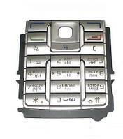 Клавиатура для Nokia E60, Серебристая /Кнопки/Клавиши /нокиа